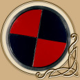 LARP RFB Round Shield Red & Black